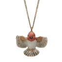 And Mary, collier pendentif en porcelaine Petit Rouge-gorge - cassisroyal.com