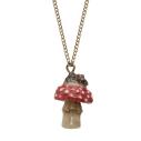 And Mary, collier Pendentif en porcelaine Petite souris sur son champignon- cassisroyal.com