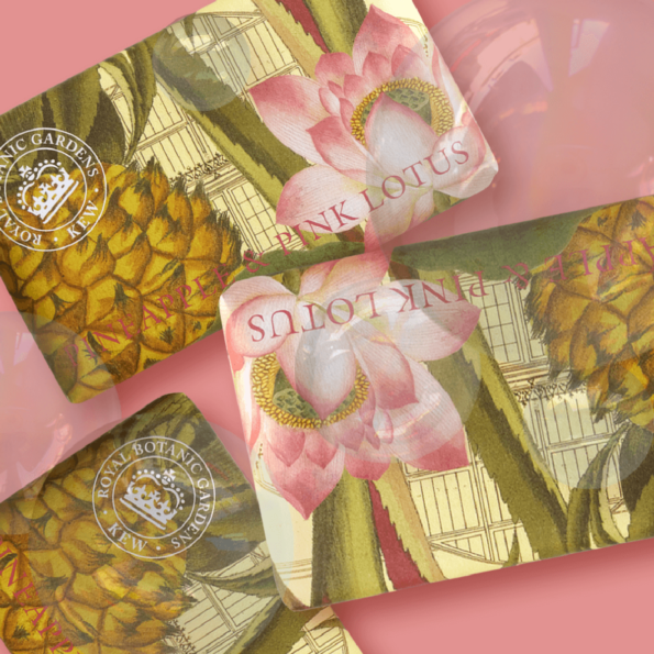 Savon Pineapple & Pink Lotus - Royal Botanic Gardener Kew - cassisroyal.com