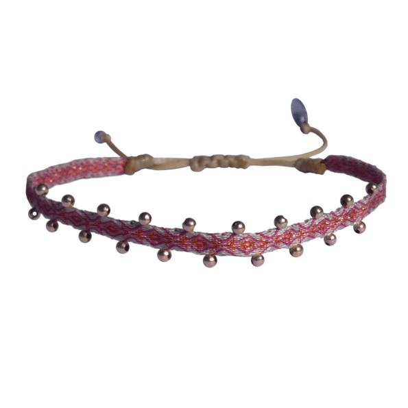 LEJU, Bracelet billes rose & gold - cassisroyal.com