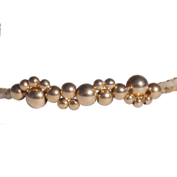 LEJU, Bracelet bubble mastic & gold - cassisroyal.com