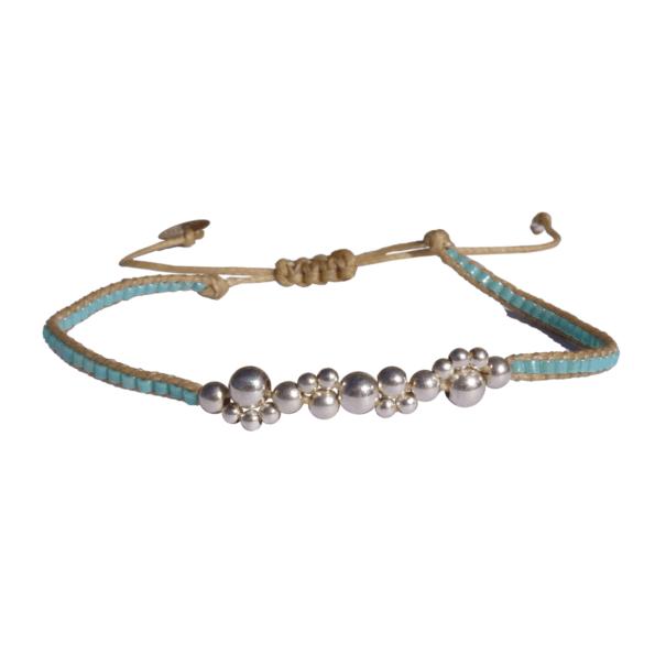 LEJU, Bracelet bubble ciel & silver - cassisroyal.com