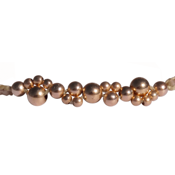 LEJU, Bracelet bubble beige & copper - cassisroyal.com