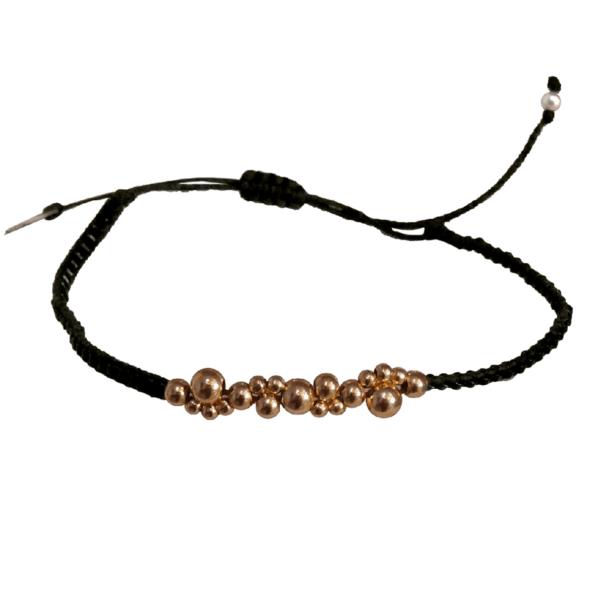 LEJU, Bracelet bubble noir & copper - cassisroyal.com