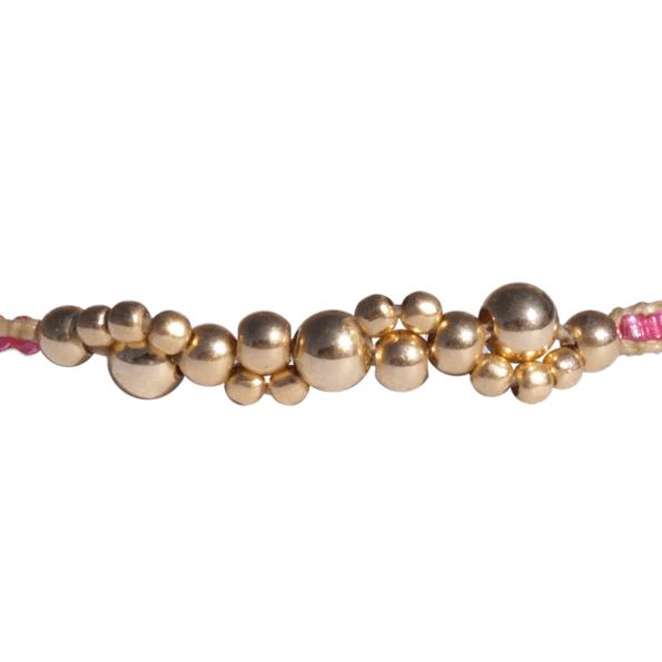 LEJU, Bracelet bubble rose & gold - cassisroyal.com