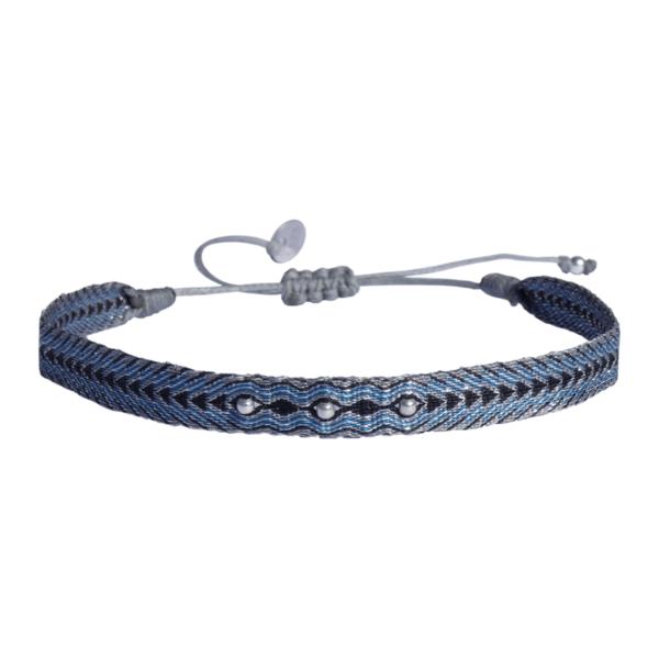 LEJU, Bracelet homme gris, bleu & noir - cassisroyal.com