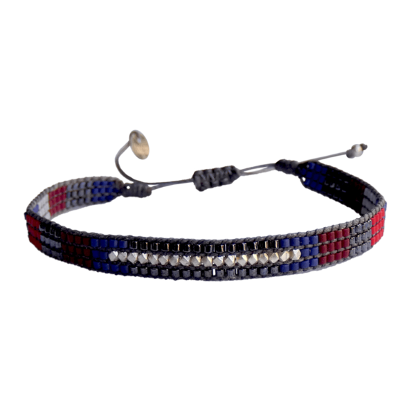 LEJU, Bracelet Homme faceted bleu, bordeau, rouge - cassisroyal.com