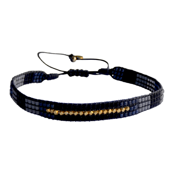 LEJU, Bracelet Homme faceted bleu, gris, noir - cassisroyal.com
