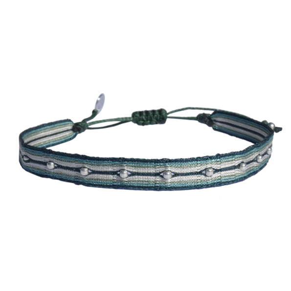 LEJU, Bracelet homme gris & vert - cassisroyal.com