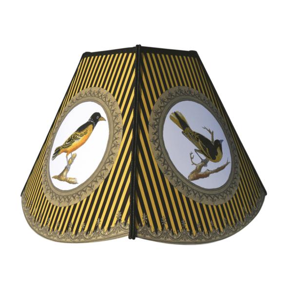 Tillier Décoration, Abat-jour pagode pm Oiseaux jaune - cassisroyal.com